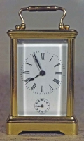 "Kleinere Reiswekker of ""Carriage clock""  575,- euro"